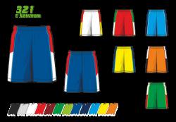 Баскетбольные шорты 321 с кантом