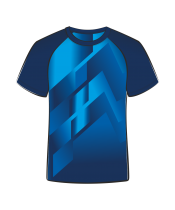 Футболка с коротким рукавом 206 т.синяя