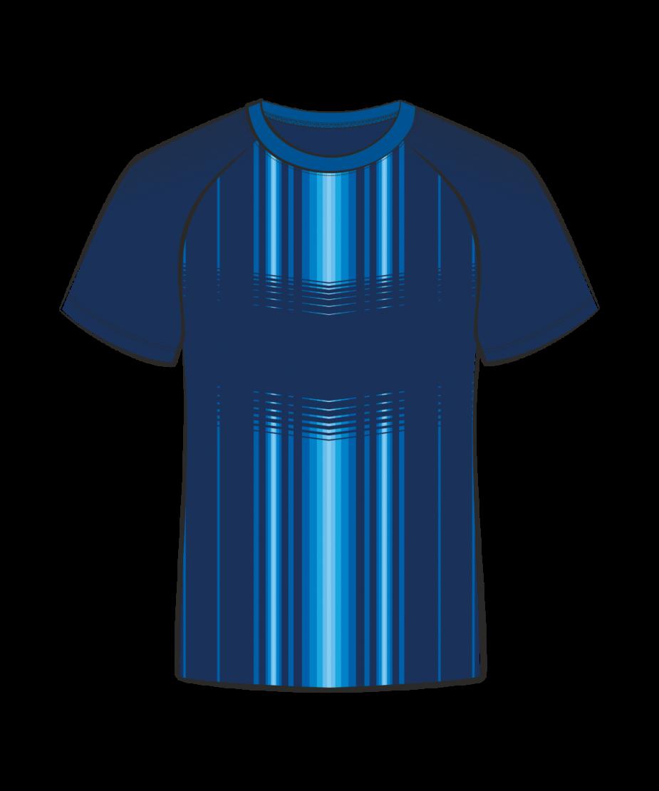 Футболка простая 206 реглан т.синий