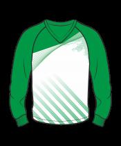 Футболка с длинным рукавом 206 реглан расцветка1 зеленая