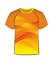 Футболка простая 206 оранжевая