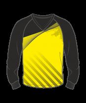 Футболка с длинным рукавом 206 реглан расцветка1 желтая