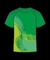 Футболка простая 206 рукав реглан зелёная