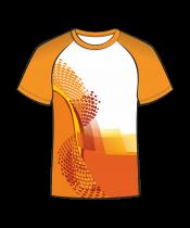 Футболка простая 206 рукав реглан оранжевая