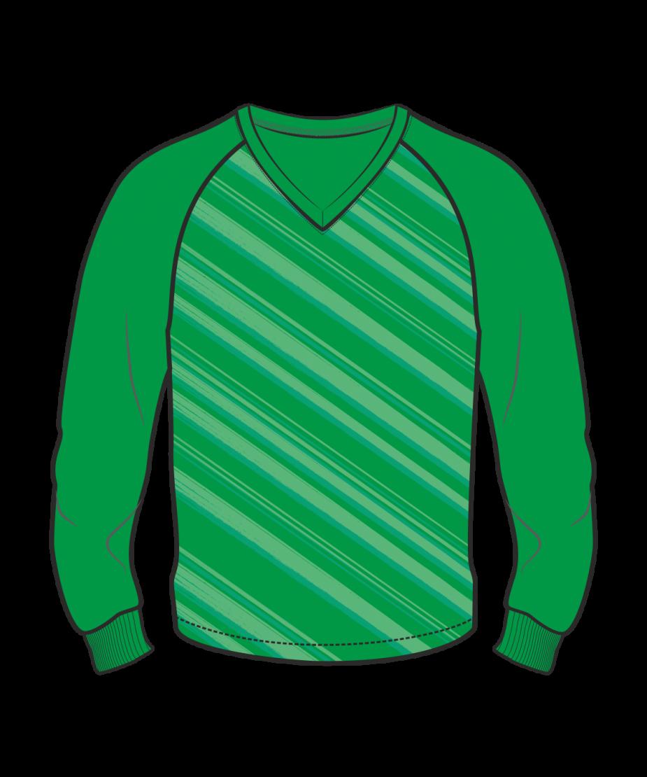 Футболка с длинным рукавом 206 реглан расцветка2 зеленая