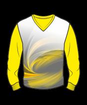 Футболка с длинным рукавом 207 втачной рукав расцветка1 желтая