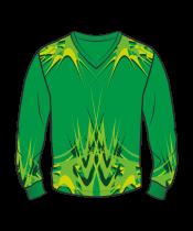 Футболка с длинным рукавом 207 втачной рукав расцветка2 зеленая
