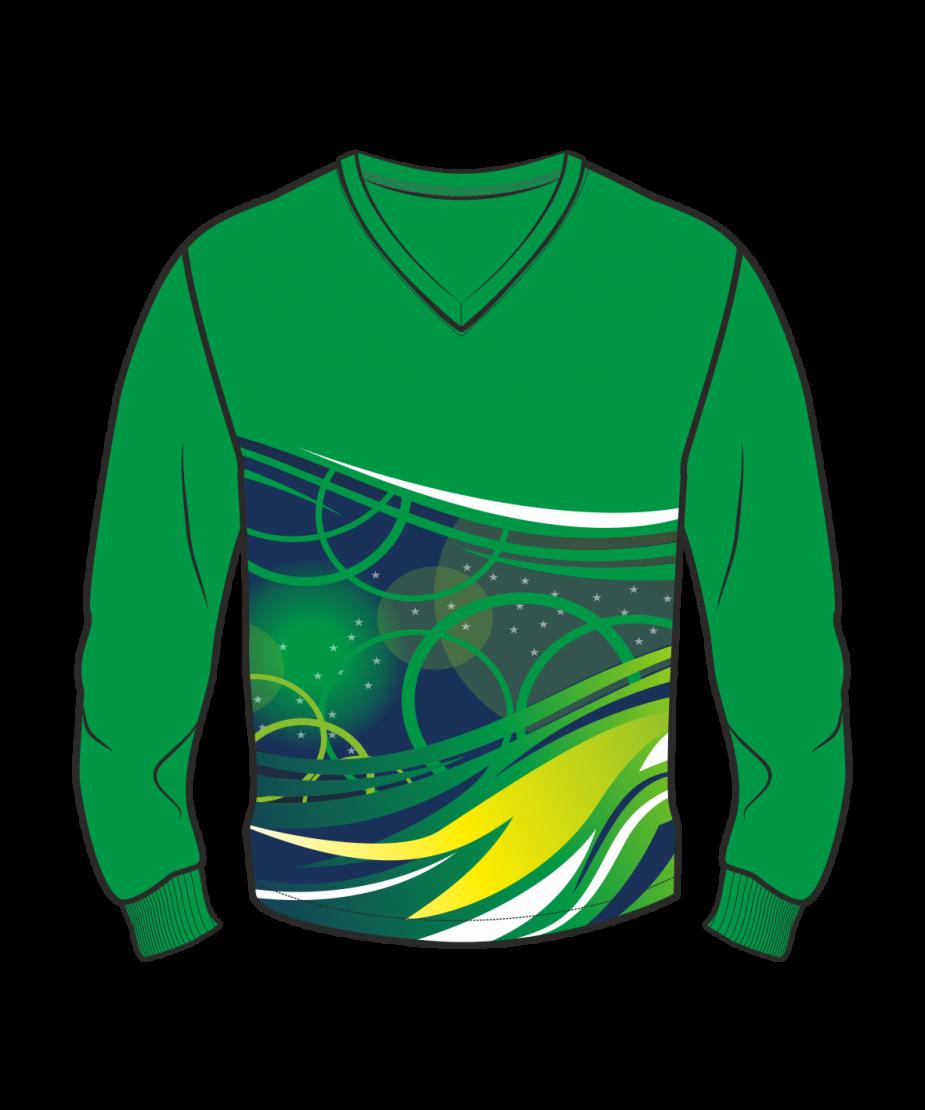 Футболка с длинным рукавом 207 втачной рукав расцветка5 зеленая