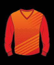 Футболка с длинным рукавом 207 втачной рукав расцветка3 красная