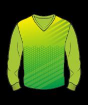 Футболка с длинным рукавом 207 втачной рукав расцветка3 зеленая