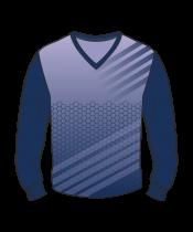 Футболка с длинным рукавом 207 втачной рукав расцветка3 фиолетовая