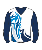 Футболка с длинным рукавом 207 втачной рукав расцветка4 синяя