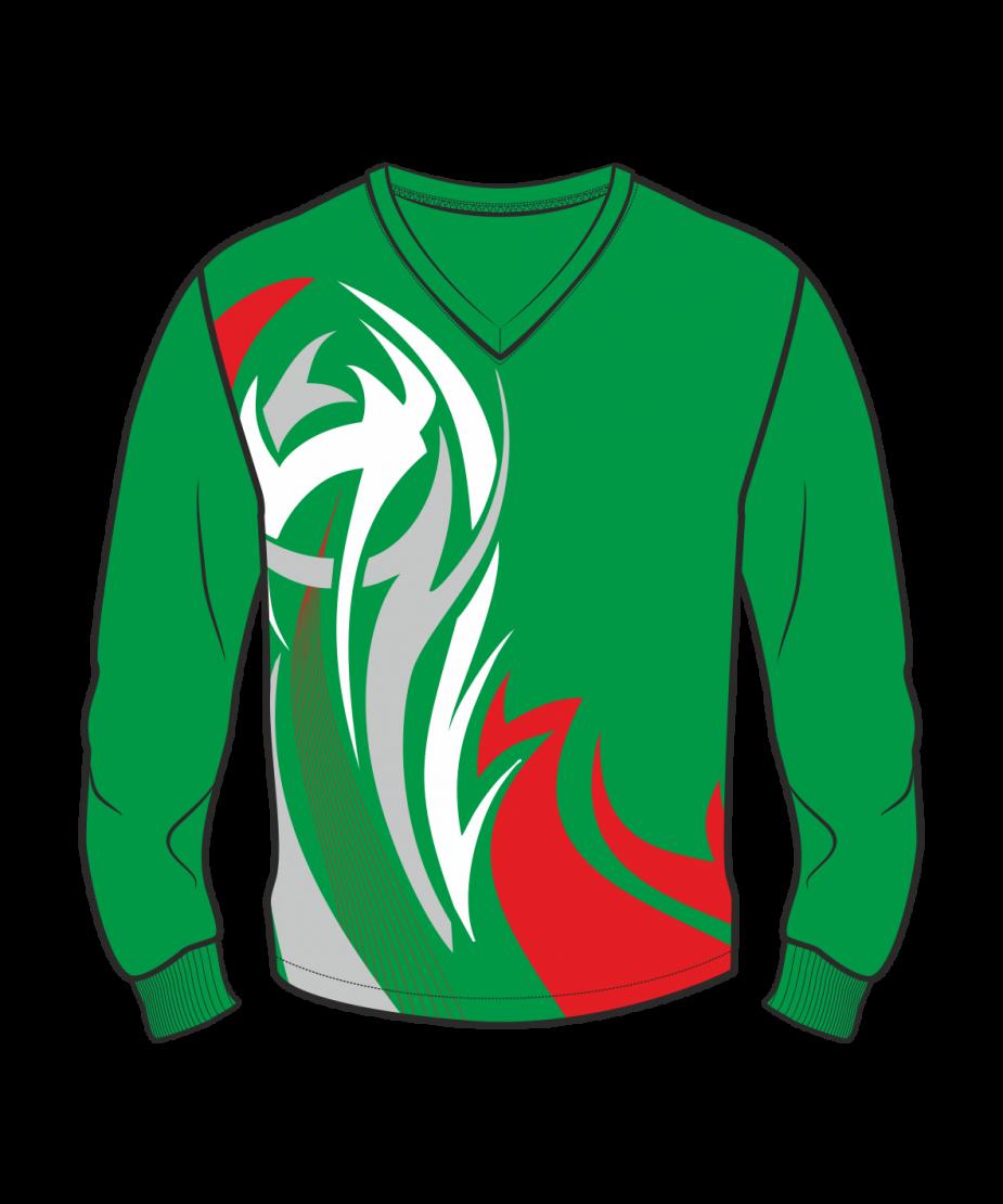 Футболка с длинным рукавом 207 втачной рукав расцветка4 зеленая