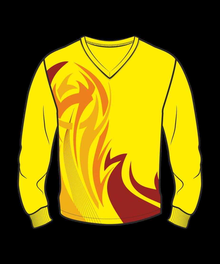 Футболка с длинным рукавом 207 втачной рукав расцветка4 желтая