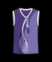 Майка 207 мужская без рукавов расцветка3 фиолетовая