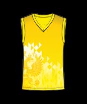 Майка 207 мужская без рукавов расцветка5 желтая