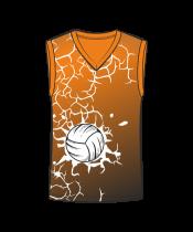 Майка 207 мужская без рукавов расцветка1 оранжевая