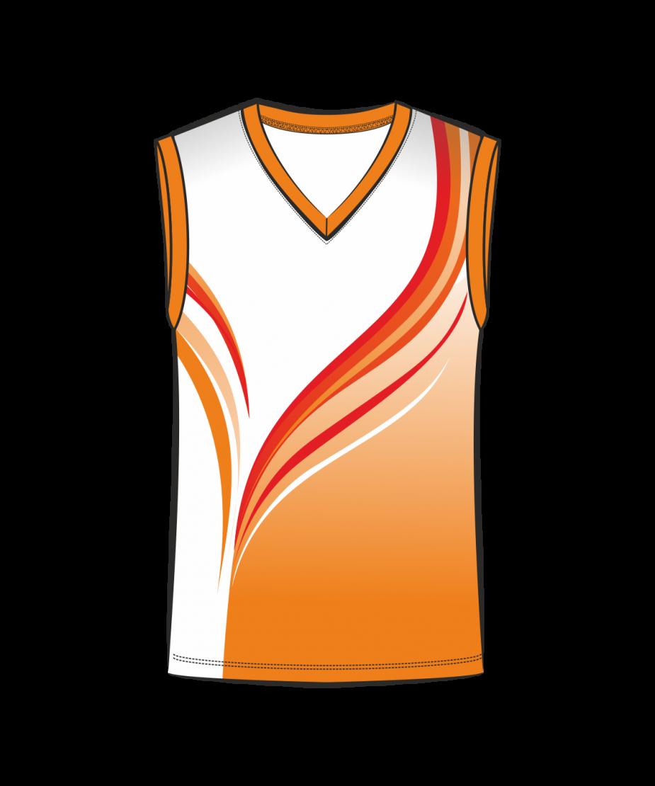 Майка 207 мужская без рукавов расцветка2 оранжевая