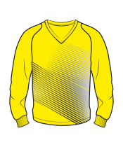 Футболка с длинным рукавом 208 рукав фигурный реглан расцветка2 желтая