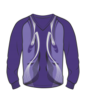 Футболка с длинным рукавом 208 рукав фигурный реглан расцветка3 фиолетовая