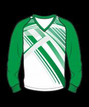 Футболка с длинным рукавом 208 рукав фигурный реглан расцветка4 зеленая