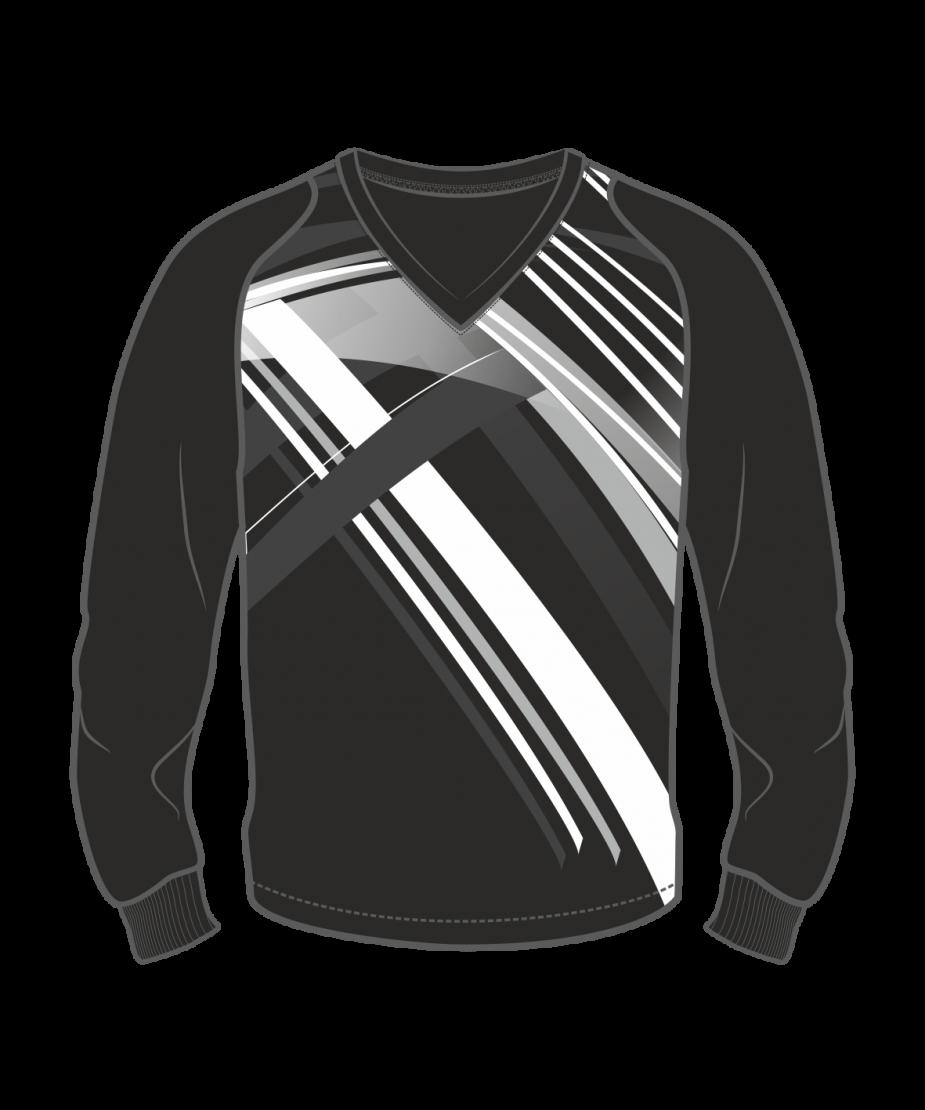 Футболка с длинным рукавом 208 рукав фигурный реглан расцветка4 черная