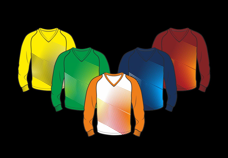 Футболка с длинным рукавом 208 рукав фигурный реглан расцветка2 оранжевая