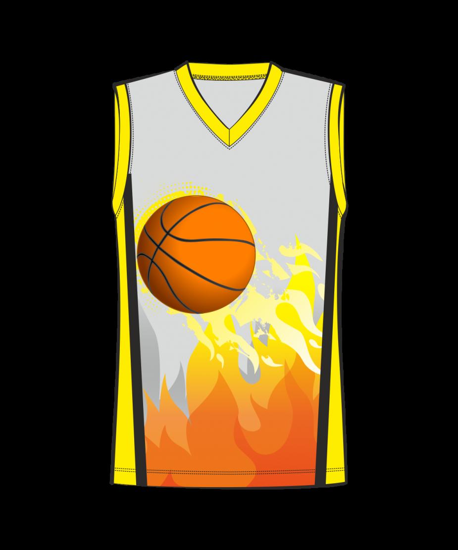 Баскетбольная майка 302 расцветка2 желтая