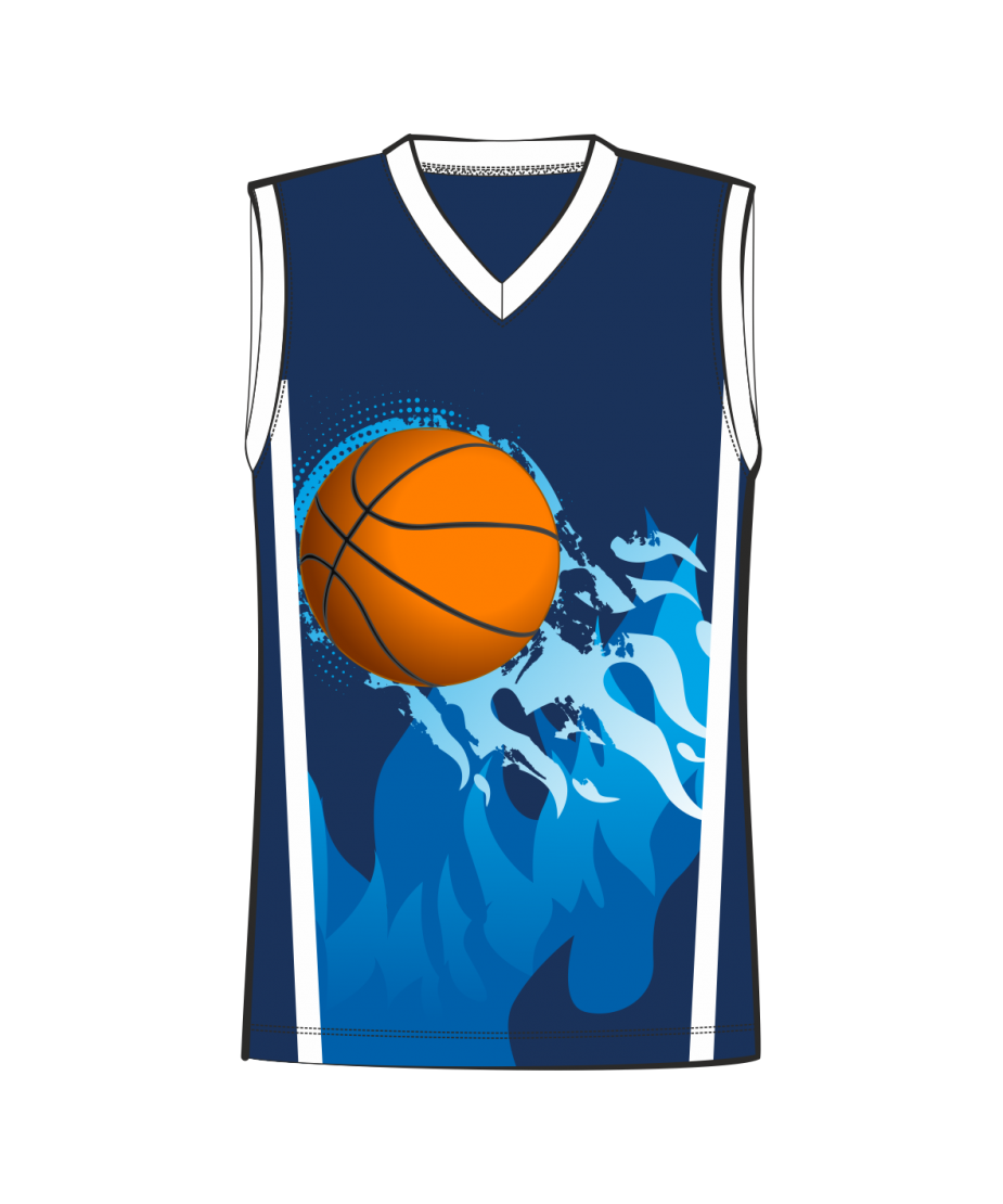 Баскетбольная майка 302 расцветка2 синяя