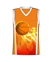 Баскетбольная майка 302 расцветка2 оранжевая