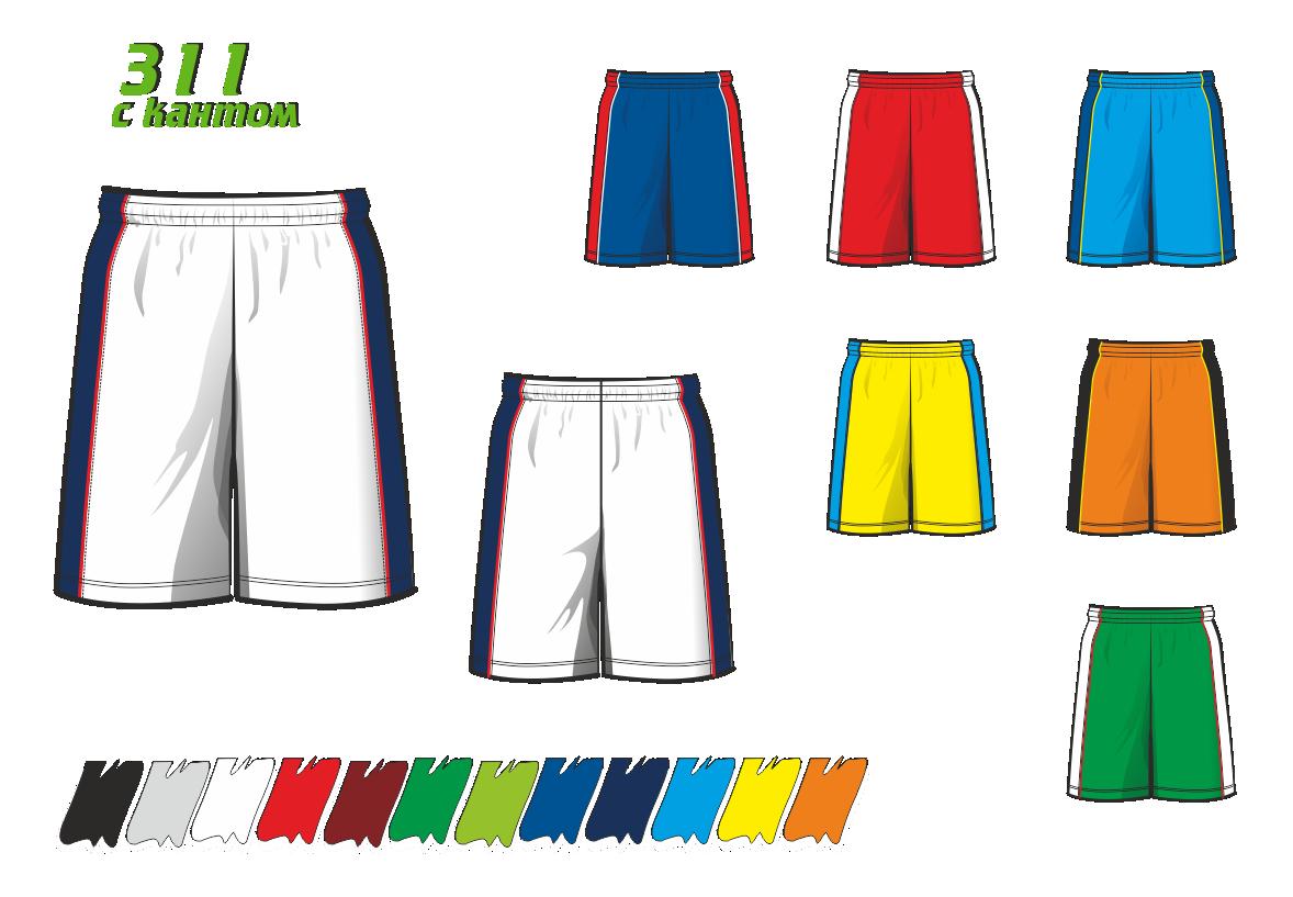 Баскетбольные шорты 311 с кантом