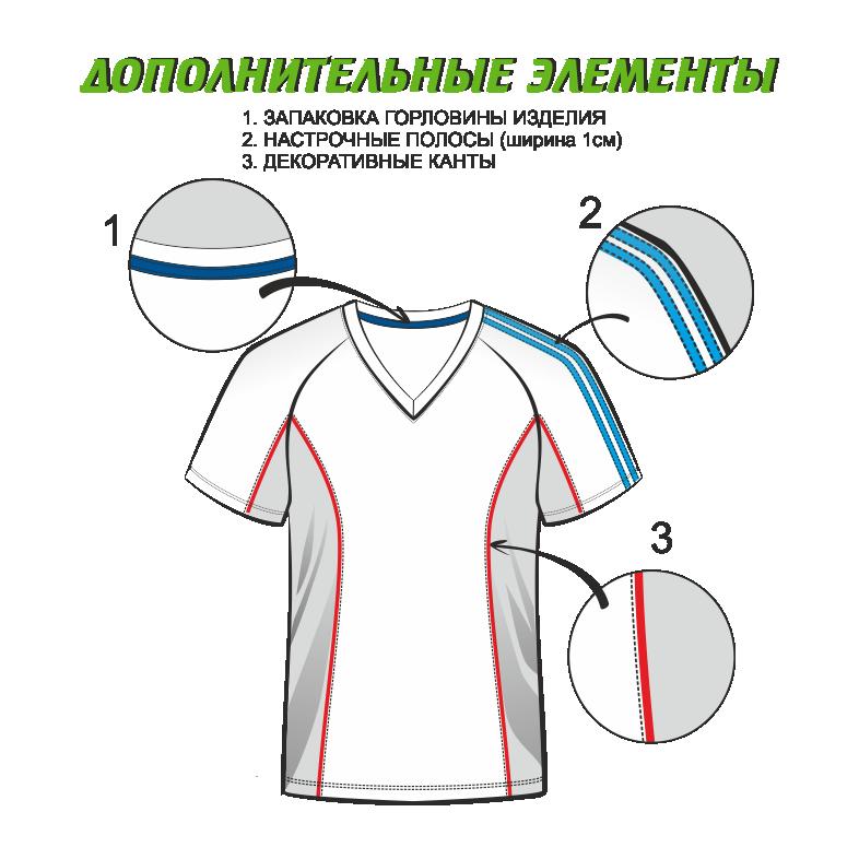 Футболка женская 205 рукав короткий втачной расцветка4 бирюзовая