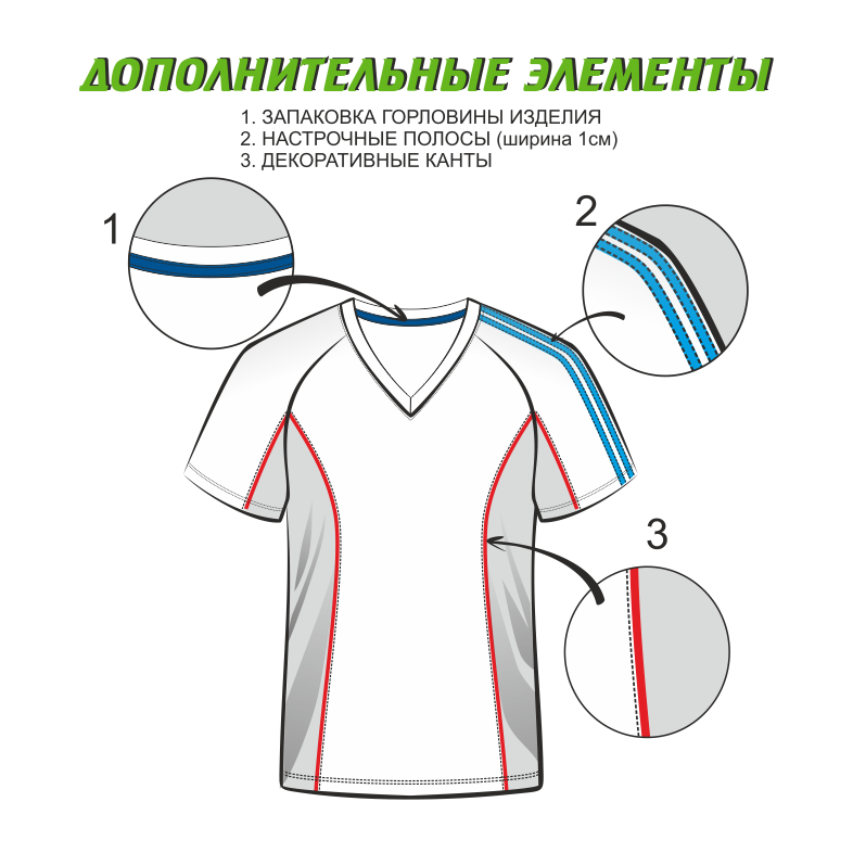 Футболка с длинным рукавом 246 с кантом